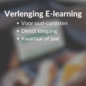 Verlenging E-learning